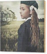 Evacuee Girl Wood Print
