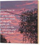 Evangelism Prayer Wood Print