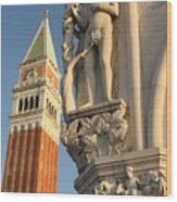 Eve And Bell Tower In Venice At San Marco Wood Print
