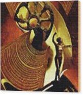 Eve Balanced On A Tightrope Wood Print