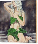 Eve In The Garden Ll Wood Print