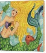 Eve The Mermaid Wood Print