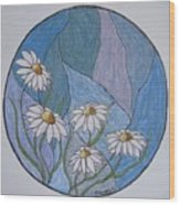 Even Daisies Get The Blues Wood Print