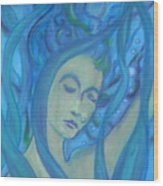 Even Mermaids Get The Blues Wood Print