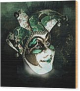 Even With Her Mask, Her Eyes Give Her Away Wood Print