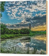 Evening Approaching Cape May Light Wood Print