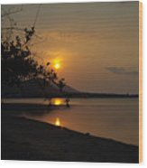 evening at Bophut Bay Wood Print