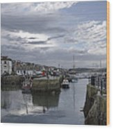 Evening At Custom House Quay - Falmouth Wood Print