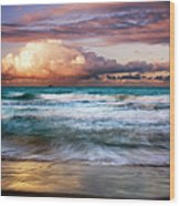 Evening At Kailua Beach Wood Print