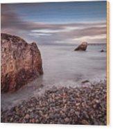 Evening At Knab Rock In Mumbles Wood Print