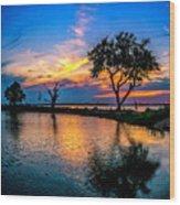 Evening At Riverwinds Wood Print