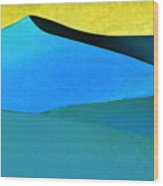 Evening At The Dunes Wood Print