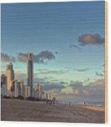 Evening At The Gold Coast Wood Print