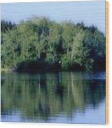 Evening At The Lake Wood Print
