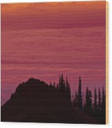 Evening At The Top Wood Print