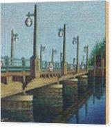 Evening, Bayville Bridge Wood Print