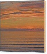 Evening Beach Walk Wood Print
