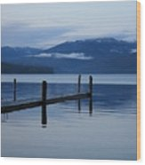 Tranquil Blue Priest Lake Wood Print