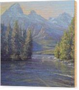 Evening Calm, Taggart Lake Wood Print