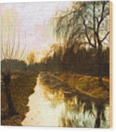Evening Canal Wood Print