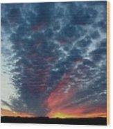 Evening Sky In Kansas Wood Print