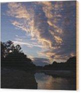 Evening Clouds Wood Print