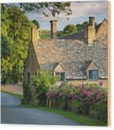Evening Cottage Wood Print