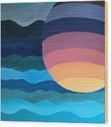 Evening Dip Wood Print