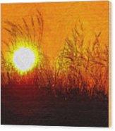 Evening Dunes Impasto Wood Print