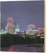 Evening Falls On Indianapolis Wood Print