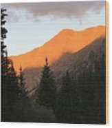 Evening Fire Wood Print