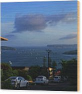 Evening For Sailing Wood Print