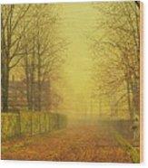 Evening Glow Wood Print by John Atkinson Grimshaw