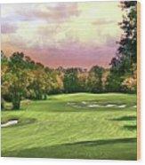Evening Golf Course Scene Wood Print