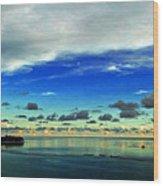 Evening In Paradise Panoramic Wood Print