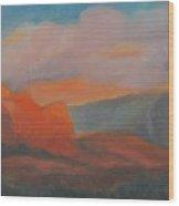 Evening In Sedona Wood Print
