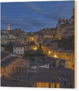 Evening In Siena Wood Print