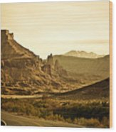 Evening In The Canyon Wood Print