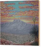 Evening In The Desert Wood Print