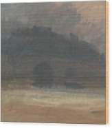 Evening Landscape With Castle And Bridge In Yorkshire Wood Print