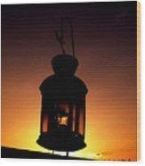 Evening Lantern Wood Print