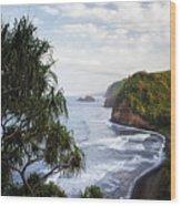 Evening Light Along The North Shore Of Kohala On The Big Island Of Hawaii. Wood Print
