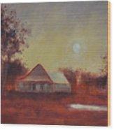 Evening Light Wood Print