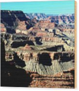 Evening Light Over The Grand Canyon Wood Print