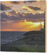 Evening Lighthouse Wood Print