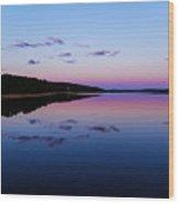 Evening Mirror Wood Print