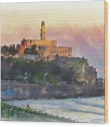 Evening Mood In Jaffa Wood Print