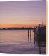 Evening Of Peace - Jersey Shore Wood Print