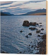 Evening On Loch Rannoch Wood Print
