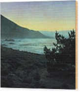 Evening On The California Coast Wood Print